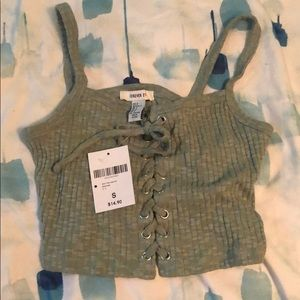 Cute army green forever 21 tank. New with tags